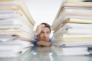 Desk Paper Pile