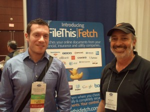 Joshua Zerkel at the FileThis Fetch Booth