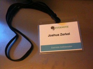 My Badge from the Evernote Trunk Conference