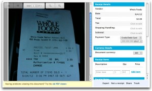 Shoeboxed - Whole Foods Receipt